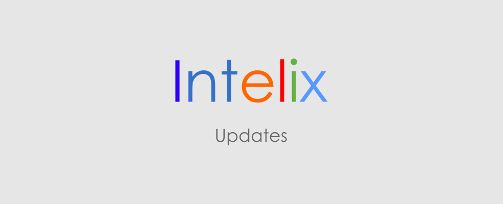 "Intelix logo with the word ""updates"" below it"
